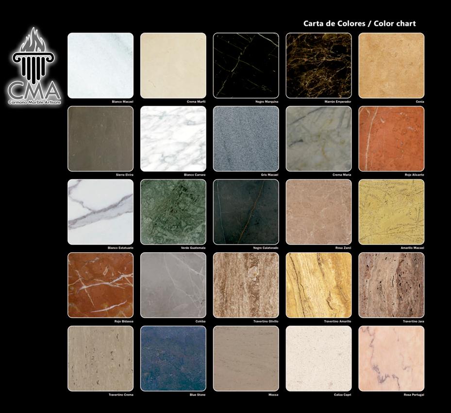 Colores de marmol interesting interesting piedra de mrmol for Marmol translucido de colores vivos